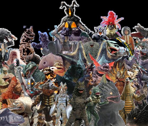 File:Ultraman Hayata Monsters.png
