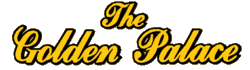 The Golden Palace gold large script logo