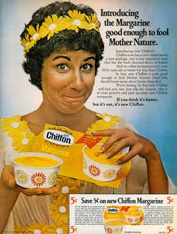 Mother Nature Chiffon Margarine ad 1970s