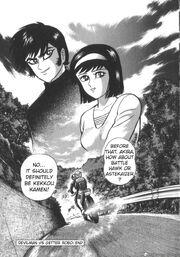 Akira and Miki Devilman vs Getter Robo