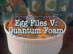 Egg Files V- Quantum Foam
