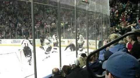 Colorado Eagles Hockey Fight!! Dec. 27 2009
