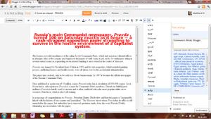 Blogger Compose Window Screenshot April 2012