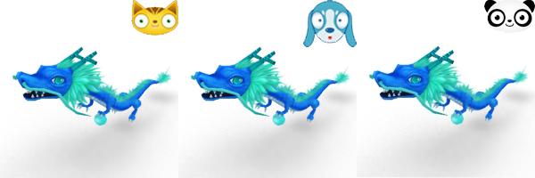 Ice Blue Dragons