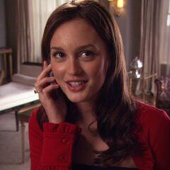 Blair on the phone with Chuck