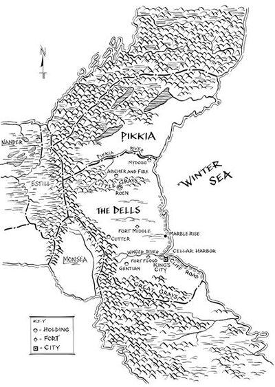 Dells Map by Jeffery C
