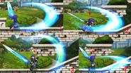 Spell Knight Erudon Weapon Combo