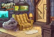 Postcard creator living room
