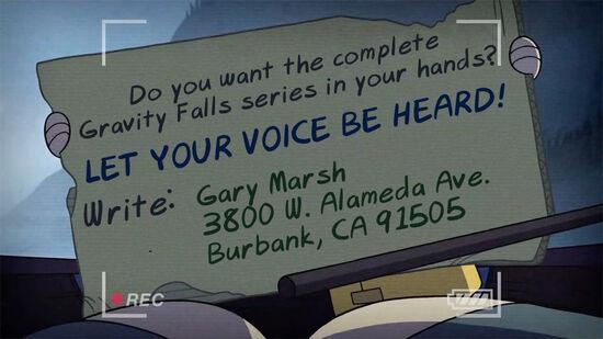 Gravity Falls DVD Camapign