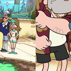 Диппер имеет клюшку.