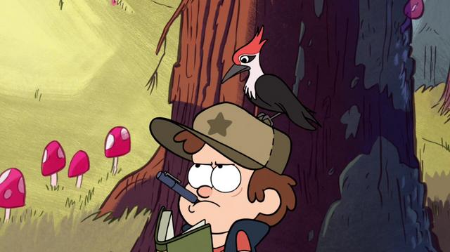 File:S1e1 woodpecker on dipper's head.png