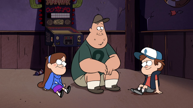 File:S1e14 Soos, Dipper, and Mabel freed.png