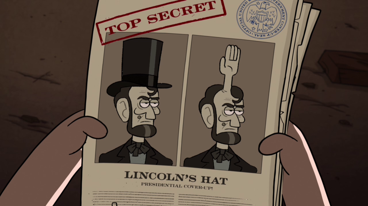 Image S1e8 Lincoln S Hat Png Gravity Falls Wiki