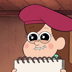 Mabel smiling.