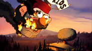S2e9 falling flaming Stan head