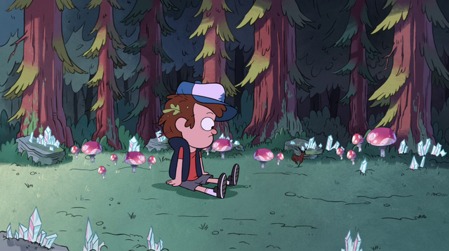File:S1e11 Dipper in the crystal forest.png