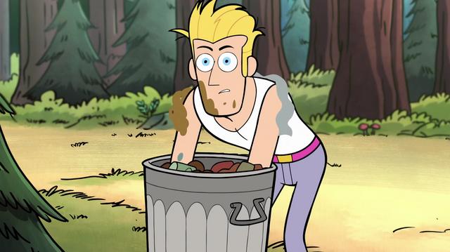 File:S1e17 pretty boy rooting through trash.png