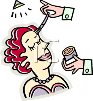 File:0511-0904-0419-5873 Actress Having Her Make Up Done clipart image.png