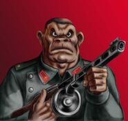 Soviet apeman soldier by popius-d6dxfs3