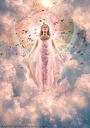 Iris the goddess of the rainbow and sky