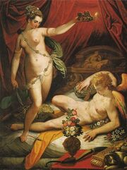 Psyche sees eros
