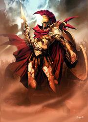 Ares Mars Greek God Art 01 by GenzoMan