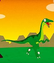 Green Dromaeosaurus