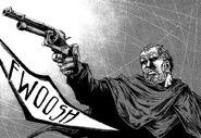 Gene taking out his gun