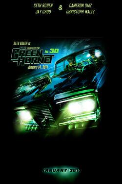 Green hornet 3d poster