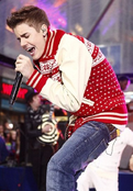 Justin Bieber Performing on Today Show in 2011
