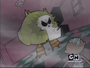 Grim as evil duck