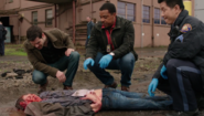 518-Nick, Hank, Wu look at boneless body