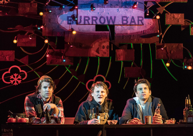 File:Andrew Spillett, Jack Shalloo and Andy Karl as Gus, Ralph and Phil, respectively, at the Burrow Bar.png