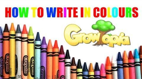 Growtopia- How to write in colours