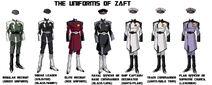 THE UNIFORMS OF ZAFT