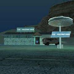 Lil' Probe Inn at night.