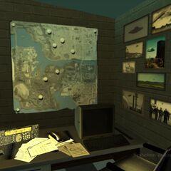 UFO map in office.