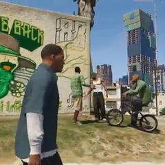 The Welcome Back sign in GTA V.
