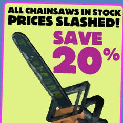 Strange description of the chainsaw.