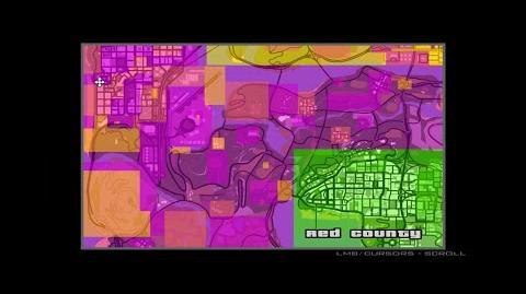 GTA San Andreas territory glitch
