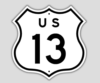 File:1957 Style US Route 13 Shield.png