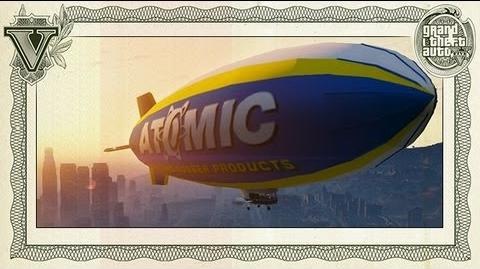 GTA 5 - Atomic Blimp airship flight - HD 720p