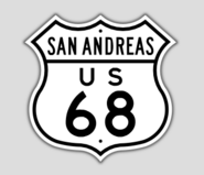 1948 Style US Route 68 Shield