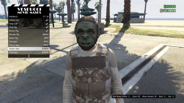 File:GTAO-Animal-Green Ape Mask.png
