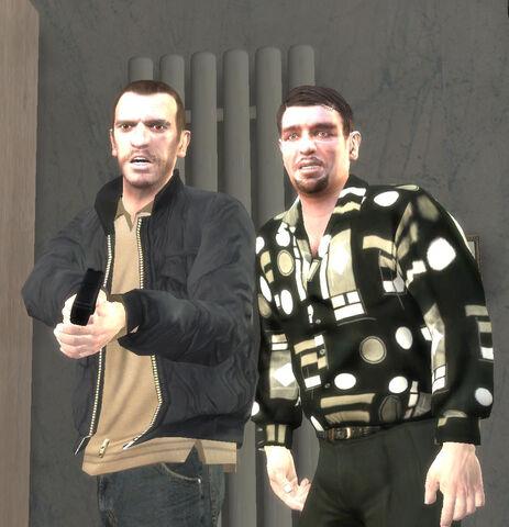File:Niko&Roman meet Bernie Crane.jpg
