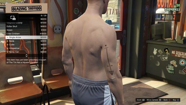 File:Tattoo GTAV Online Male Right Arrm Single Arrow.jpg