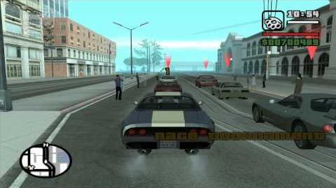 GTA San Andreas - Walkthrough - Street Race - San Fierro Hills (HD)