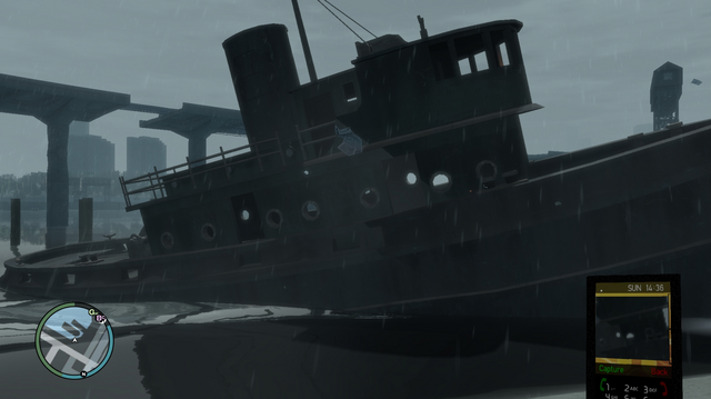 File:Wreck Fishing Boat GTAIV From the shore.png