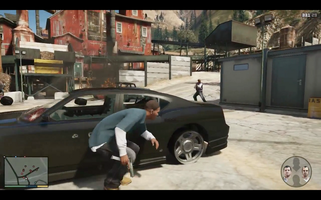 File:GTA V-gameplay-Trevortakingcover-besideblackbuffalo-shooting-appistol.png