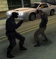 SWAT-criminal fight